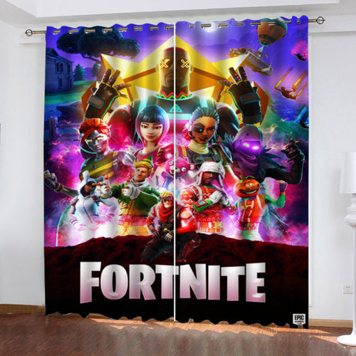 Fortnite Characters #1 Blackout Curtains For Window Treatment Set For Living Room Bedroom