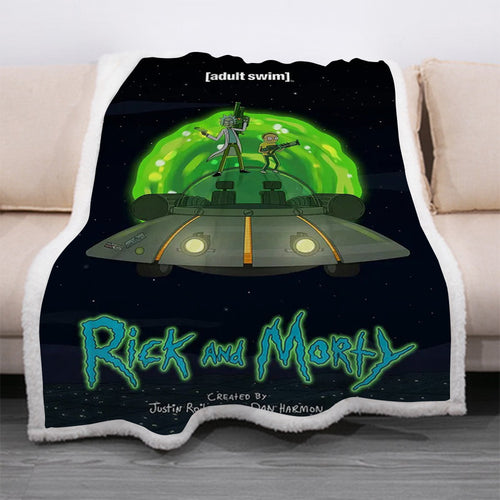 Rick and Morty #15 Blanket Super Soft Cozy Sherpa Fleece Throw Blanket for Men Boys