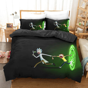 Rick and Morty Season 4 #15 Duvet Cover Quilt Cover Pillowcase Bedding Set Bed Linen Home Bedroom Decor