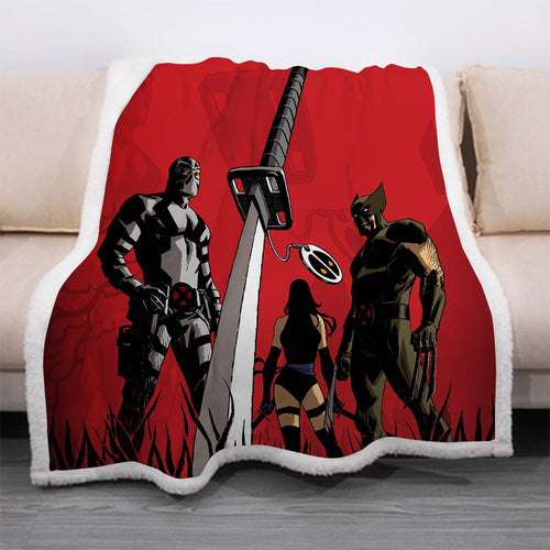 Deadpool #15 Blanket Super Soft Cozy Sherpa Fleece Throw Blanket for Men Boys