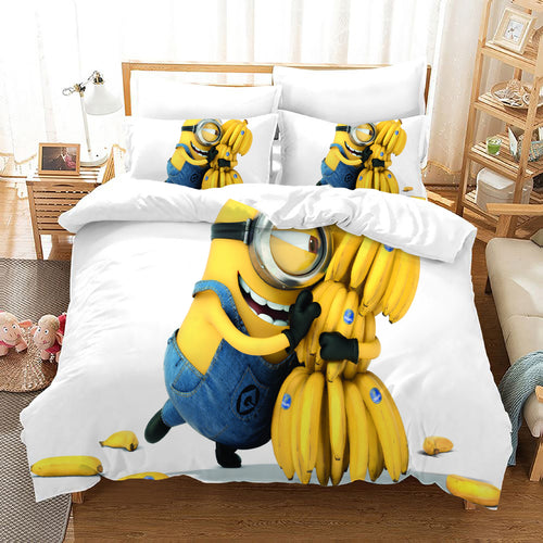 Despicable Me Minions #45 Duvet Cover Quilt Cover Pillowcase Bedding Set Bed Linen Home Decor