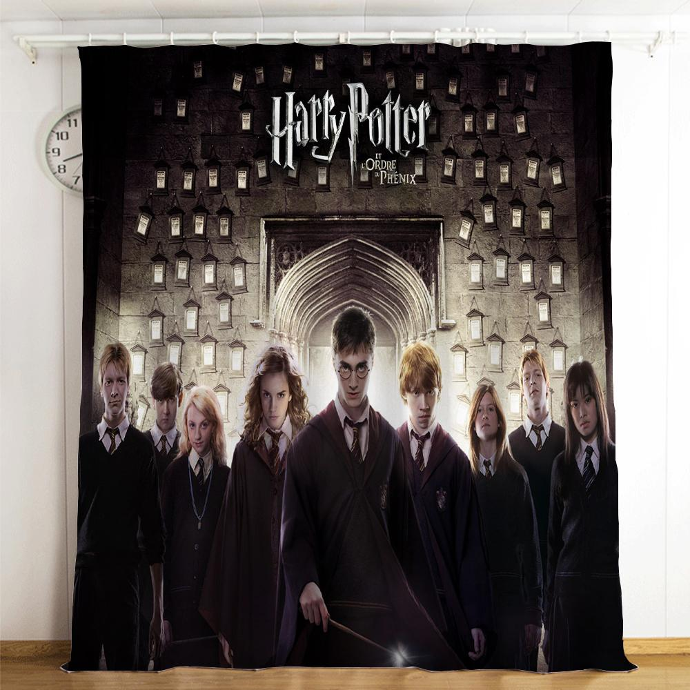 Harry Potter #15 Blackout Curtains For Window Treatment Set For Living Room Bedroom