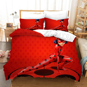 Miraculous Ladybug Cat Noir #24 Duvet Cover Quilt Cover Pillowcase Bedding Set Bed Linen Home Bedroom Decor