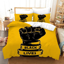 Load image into Gallery viewer, Black Lives Matter #15 Duvet Cover Quilt Cover Pillowcase Bedding Set Bed Linen Home Bedroom Decor