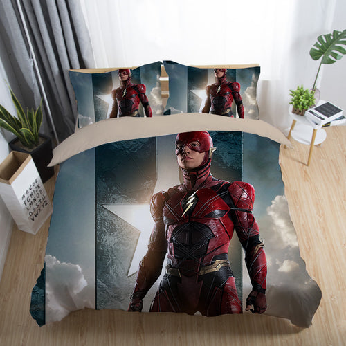 Justice League Wonder Woman Superman Batman The Flash Aquaman #16 Duvet Cover Quilt Cover Pillowcase Bedding Set Bed Linen Home Decor