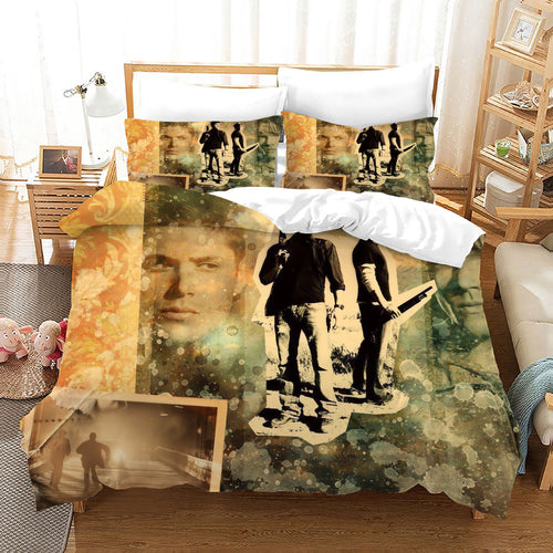 Supernatural Dean Sam Winchester #26 Duvet Cover Quilt Cover Pillowcase Bedding Set Bed Linen Home Decor