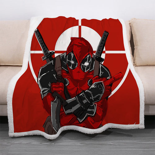 Deadpool #16 Blanket Super Soft Cozy Sherpa Fleece Throw Blanket for Men Boys