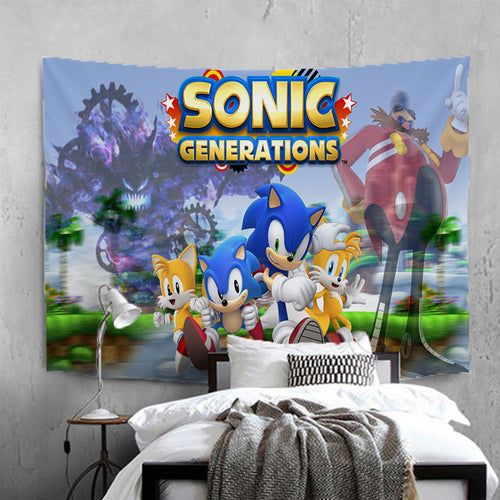 Sonic Lost World #16 Wall Decor Hanging Tapestry Home Bedroom Living Room Decorations