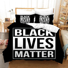 Load image into Gallery viewer, Black Lives Matter #16 Duvet Cover Quilt Cover Pillowcase Bedding Set Bed Linen Home Bedroom Decor
