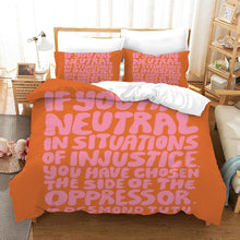 Load image into Gallery viewer, No Racism #17 Duvet Cover Quilt Cover Pillowcase Bedding Set Bed Linen Home Bedroom Decor