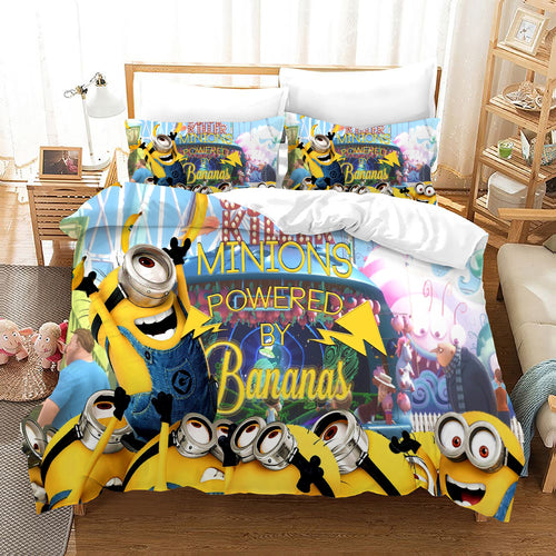 Despicable Me Minions #47 Duvet Cover Quilt Cover Pillowcase Bedding Set Bed Linen Home Decor