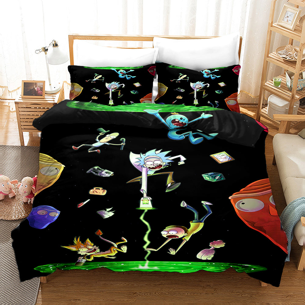 Rick and Morty Season 4 #17 Duvet Cover Quilt Cover Pillowcase Bedding Set Bed Linen Home Bedroom Decor