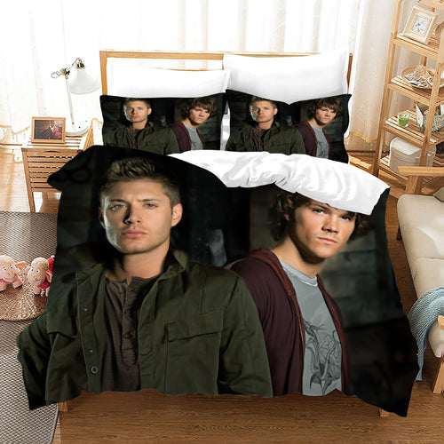 Supernatural Dean Sam Winchester #27 Duvet Cover Quilt Cover Pillowcase Bedding Set Bed Linen Home Decor