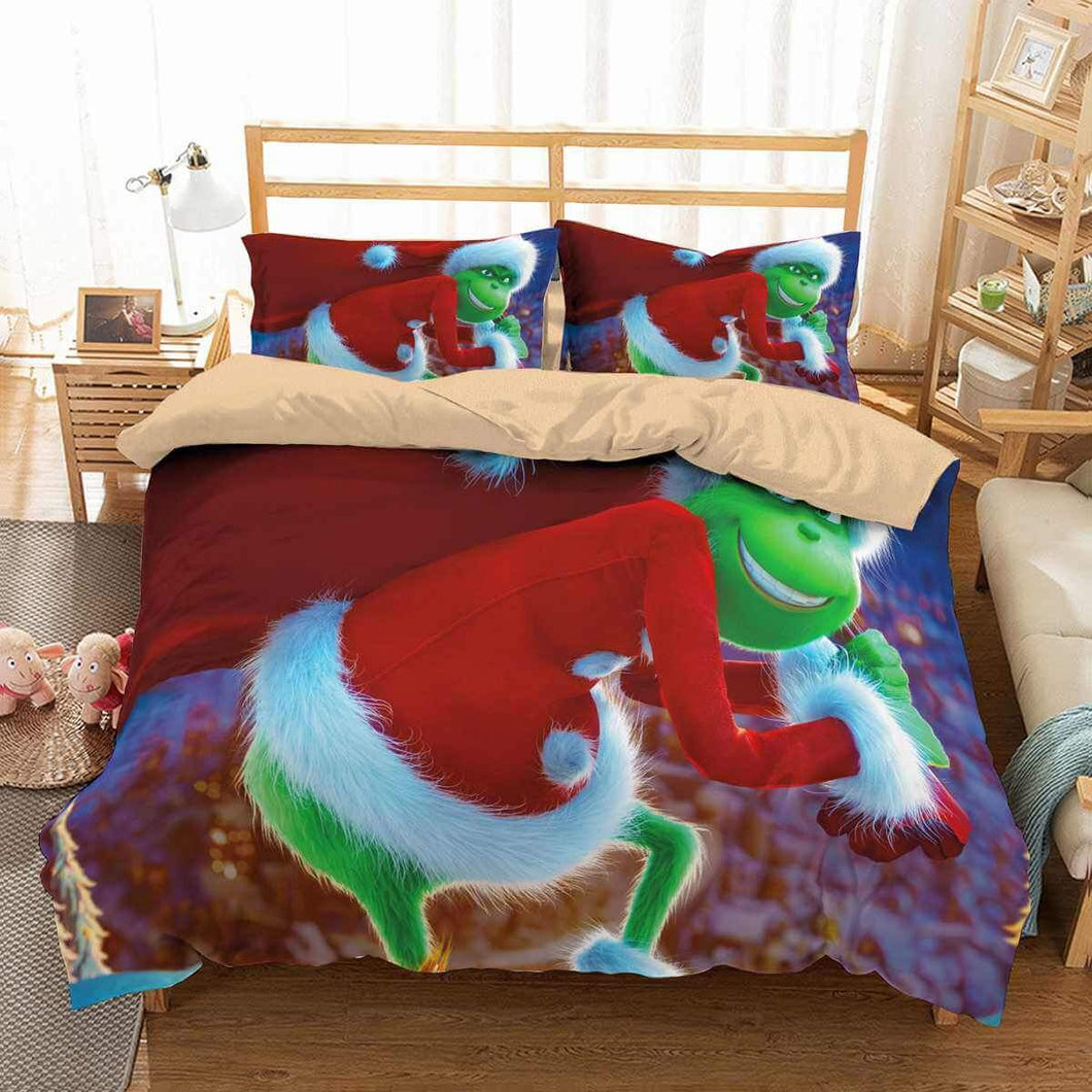 How the Grinch Stole Christmas #3 Duvet Cover Quilt Cover Pillowcase Bedding Set Bed Linen