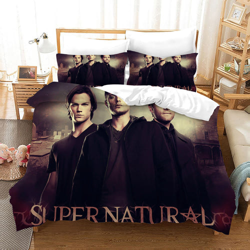 Supernatural Dean Sam Winchester #28 Duvet Cover Quilt Cover Pillowcase Bedding Set Bed Linen Home Decor