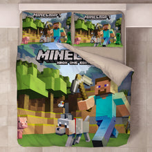 Load image into Gallery viewer, Minecraft #48 Duvet Cover Quilt Cover Pillowcase Bedding Set Bed Linen Home Decor