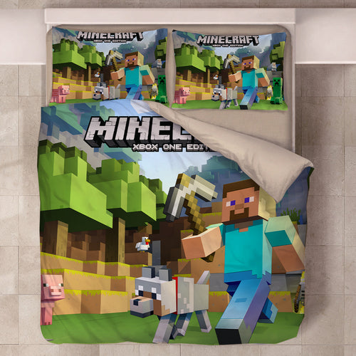 Minecraft #48 Duvet Cover Quilt Cover Pillowcase Bedding Set Bed Linen Home Decor