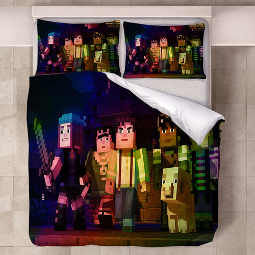 Minecraft #49 Duvet Cover Quilt Cover Pillowcase Bedding Set Bed Linen Home Decor