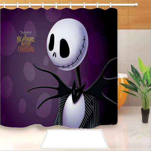 The Nightmare Before Christmas #4 Shower Curtain Waterproof Bath Curtains Bathroom Decor With Hooks
