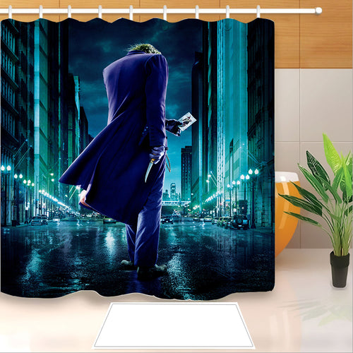 2019 Joker Arthur Fleck Clown #14 Shower Curtain Waterproof Bath Curtains Bathroom Decor With Hooks