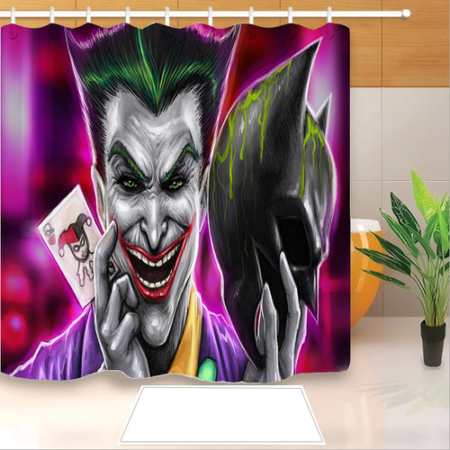 2019 Joker Arthur Fleck Clown #9 Shower Curtain Waterproof Bath Curtains Bathroom Decor With Hooks