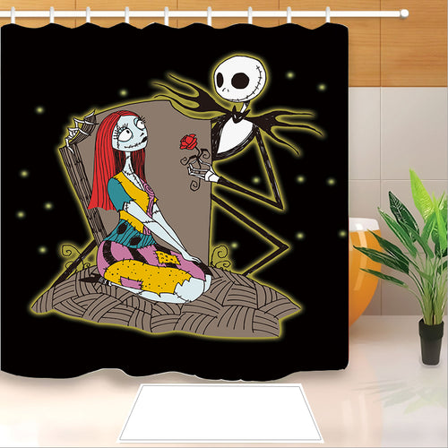 The Nightmare Before Christmas #2 Shower Curtain Waterproof Bath Curtains Bathroom Decor With Hooks