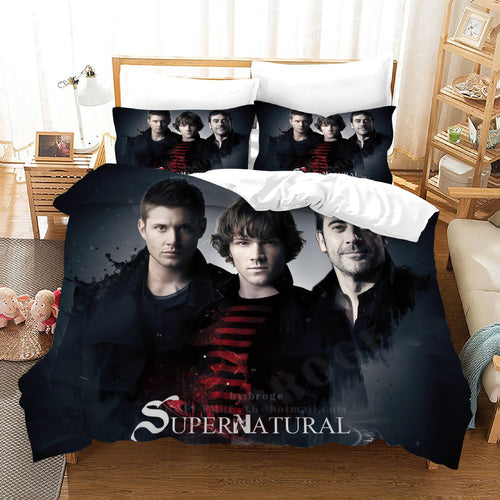 Supernatural Dean Sam Winchester #11 Duvet Cover Quilt Cover Pillowcase Bedding Set Bed Linen Home Decor