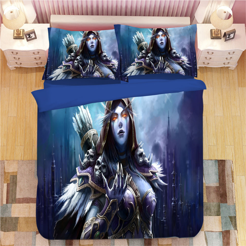 World of Warcraft WOW #2 Duvet Cover Quilt Cover Pillowcase Bedding Set Bed Linen Home Bedroom Decor