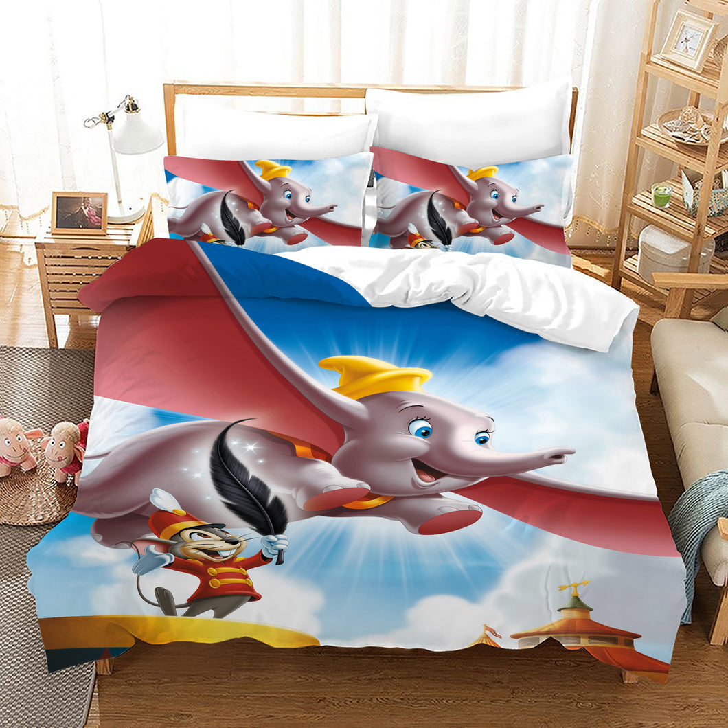 Dumbo #1 Duvet Cover Quilt Cover Pillowcase Bedding Set Bed Linen Home Bedroom Decor