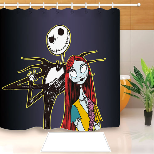 The Nightmare Before Christmas #3 Shower Curtain Waterproof Bath Curtains Bathroom Decor With Hooks