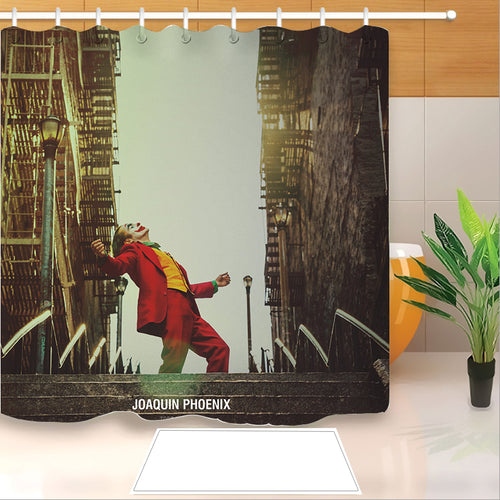 2019 Joker Arthur Fleck Clown #12 Shower Curtain Waterproof Bath Curtains Bathroom Decor With Hooks