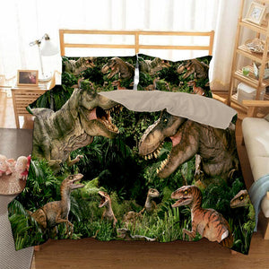 Jurassic World #3 Duvet Cover Quilt Cover Pillowcase Bedding Set Bed Linen Home Bedroom Decor