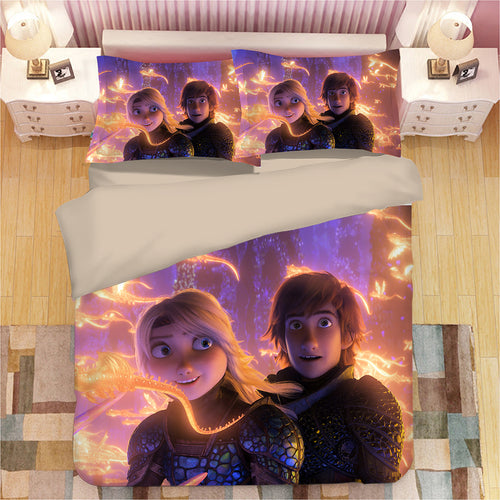 How to Train Your Dragon Hiccup #23 Duvet Cover Quilt Cover Pillowcase Bedding Set Bed Linen