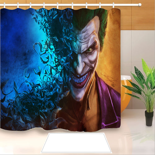 2019 Joker Arthur Fleck Clown #11 Shower Curtain Waterproof Bath Curtains Bathroom Decor With Hooks