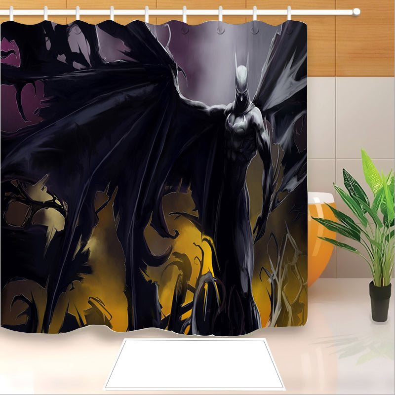 Batman #3 Shower Curtain Waterproof Bath Curtains Bathroom Decor With Hooks
