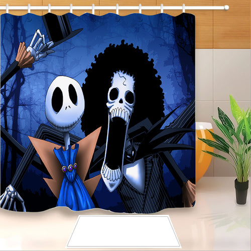 The Nightmare Before Christmas #10 Shower Curtain Waterproof Bath Curtains Bathroom Decor With Hooks