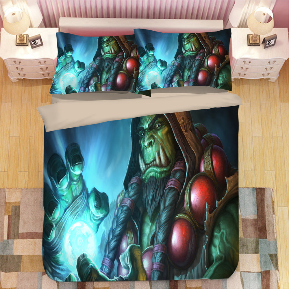 World of Warcraft WOW #5 Duvet Cover Quilt Cover Pillowcase Bedding Set Bed Linen Home Bedroom Decor