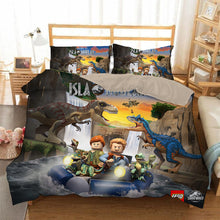 Load image into Gallery viewer, Lego Jurassic World #7 Duvet Cover Quilt Cover Pillowcase Bedding Set Bed Linen Home Bedroom Decor