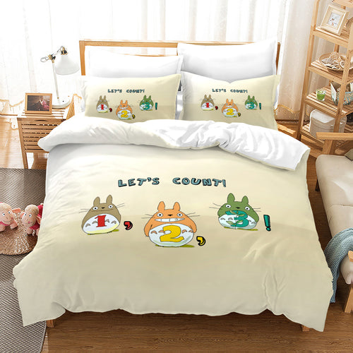 Tonari no Totoro #27 Duvet Cover Quilt Cover Pillowcase Bedding Set Bed Linen Home Decor