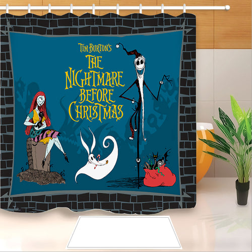 The Nightmare Before Christmas #7 Shower Curtain Waterproof Bath Curtains Bathroom Decor With Hooks