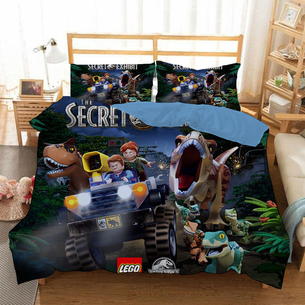 Lego Jurassic World #9 Duvet Cover Quilt Cover Pillowcase Bedding Set Bed Linen Home Bedroom Decor