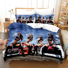 Load image into Gallery viewer, The Motorcycle Girl #1 Duvet Cover Quilt Cover Pillowcase Bedding Set Bed Linen Home Bedroom Decor