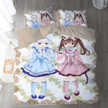 Load image into Gallery viewer, Nekopara #9 Duvet Cover Quilt Cover Pillowcase Bedding Set Bed Linen Home Bedroom Decor
