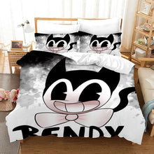 Load image into Gallery viewer, Bendy And The Ink Machine #41 Duvet Cover Quilt Cover Pillowcase Bedding Set Bed Linen Home Bedroom Decor