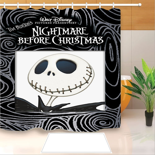 The Nightmare Before Christmas #9 Shower Curtain Waterproof Bath Curtains Bathroom Decor With Hooks