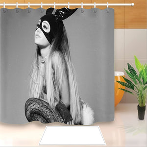 Ariana Grande #8 Shower Curtain Waterproof Bath Curtains Bathroom Decor With Hooks