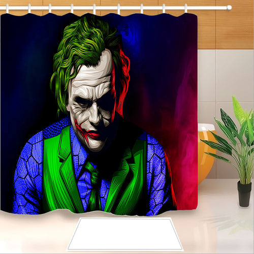 2019 Joker Arthur Fleck Clown #10 Shower Curtain Waterproof Bath Curtains Bathroom Decor With Hooks