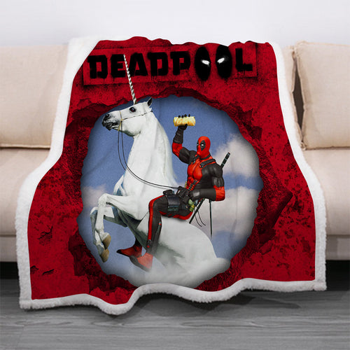 Deadpool #1 Blanket Super Soft Cozy Sherpa Fleece Throw Blanket for Men Boys