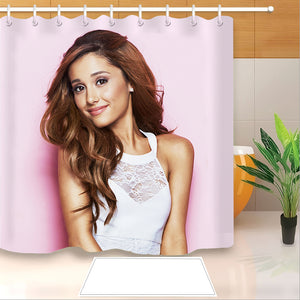 Ariana Grande #1 Shower Curtain Waterproof Bath Curtains Bathroom Decor With Hooks