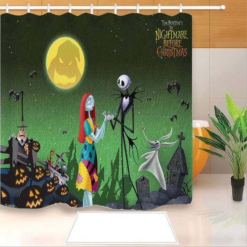 The Nightmare Before Christmas #6 Shower Curtain Waterproof Bath Curtains Bathroom Decor With Hooks